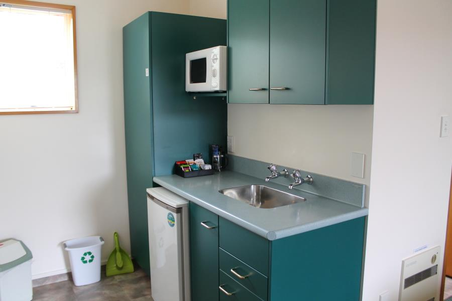 Microwave, fridge tea & coffee