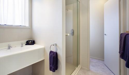 Vanity Basin, full shower