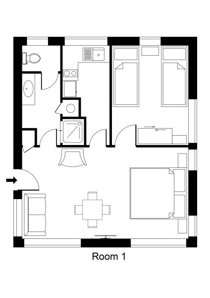 Unit 1 King One Bedroom