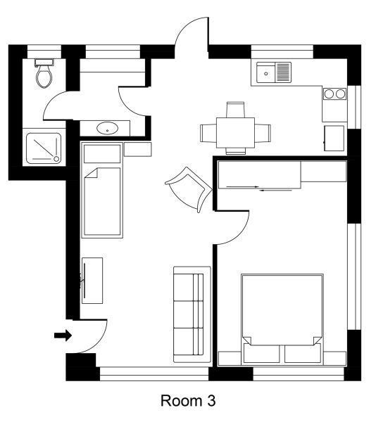 Unit 3 King one Bedroom Garden Room