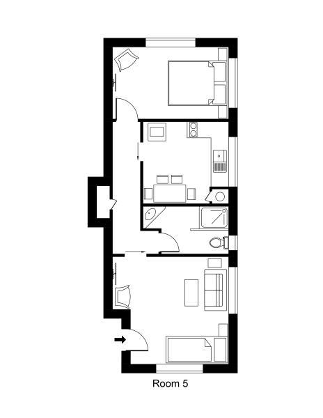 Unit 5 Queen One Bedroom