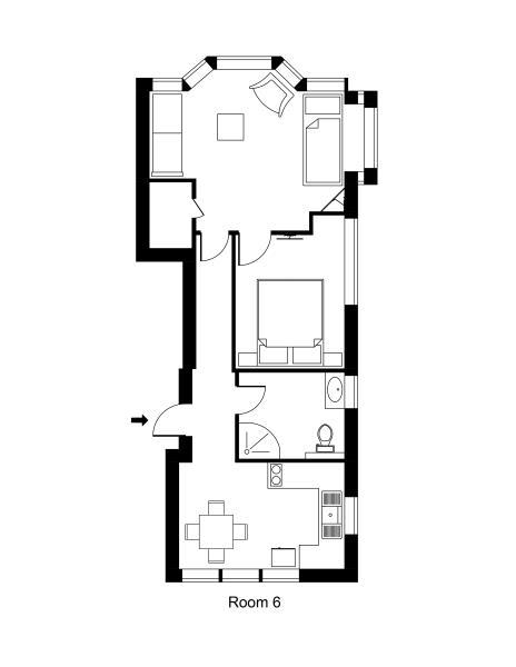 Unit 6 Queen One Bedroom
