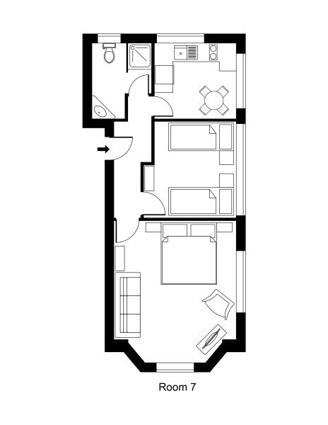 Unit 7 King Family One Bedroom