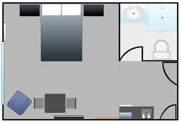 QueenStudio Floor Plan